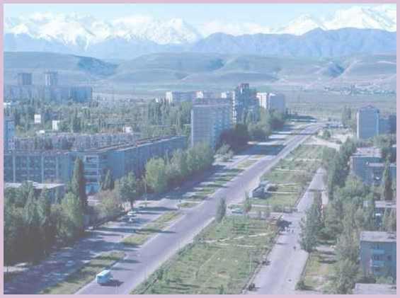 Панорама города Ош