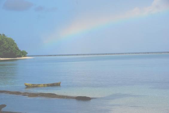 Впечатляющая радуга над архипелагом