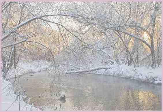 Россия. Зимний полдень на реке