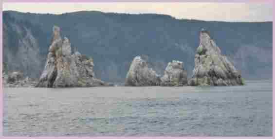 Остров Большой Шантар. Скалы